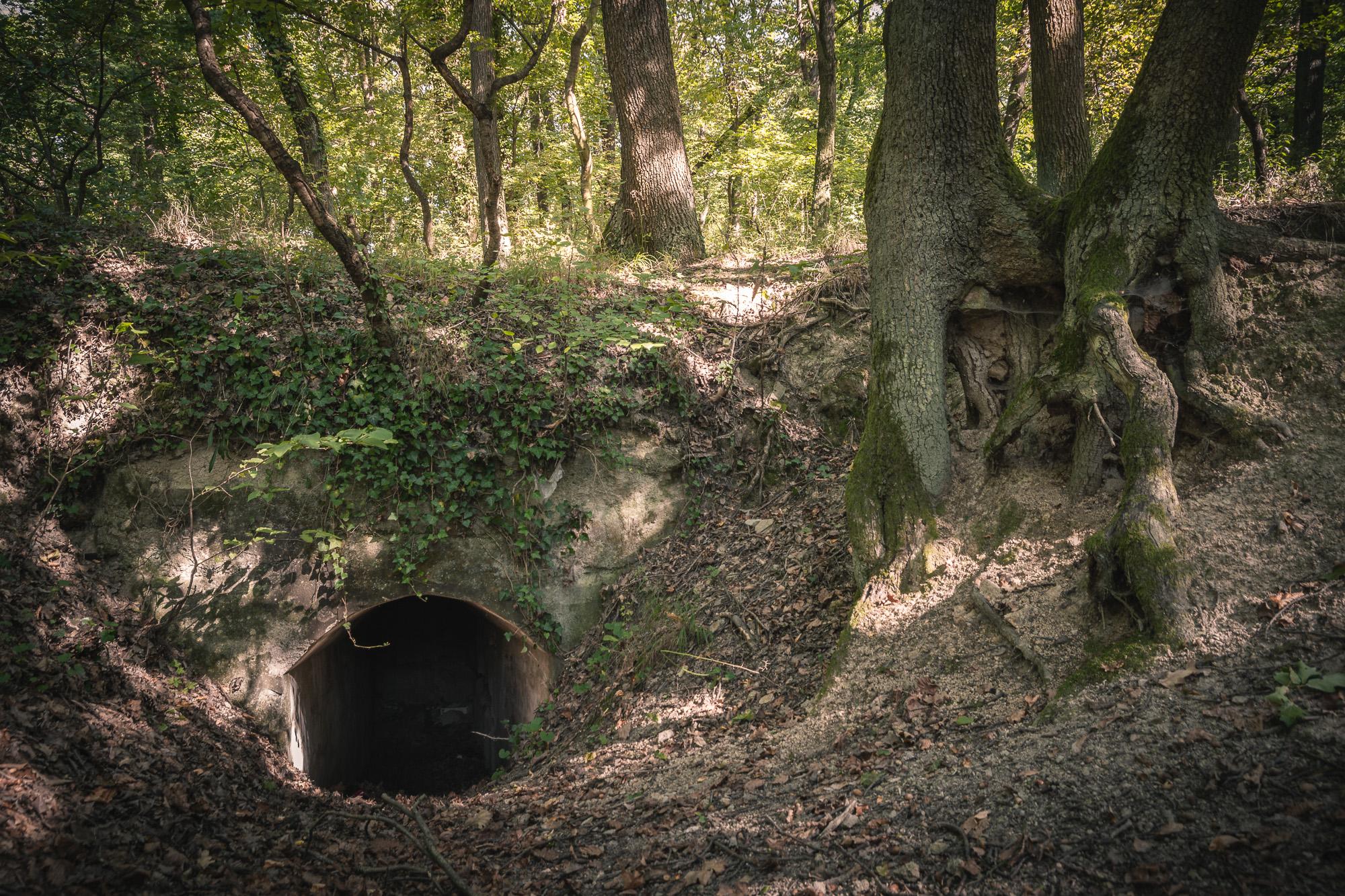 Staré kaverny, z obdobia I. svetovej vojny, dnes romanticky dopĺňajú scenérie v prítmí okolitého lesa